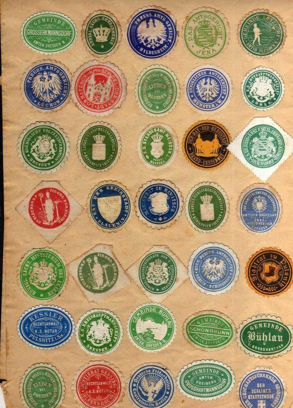 S170 75x Briefverschlussmarke Siegelmarke Sachsen Deutschland Pulsnitz Königstei