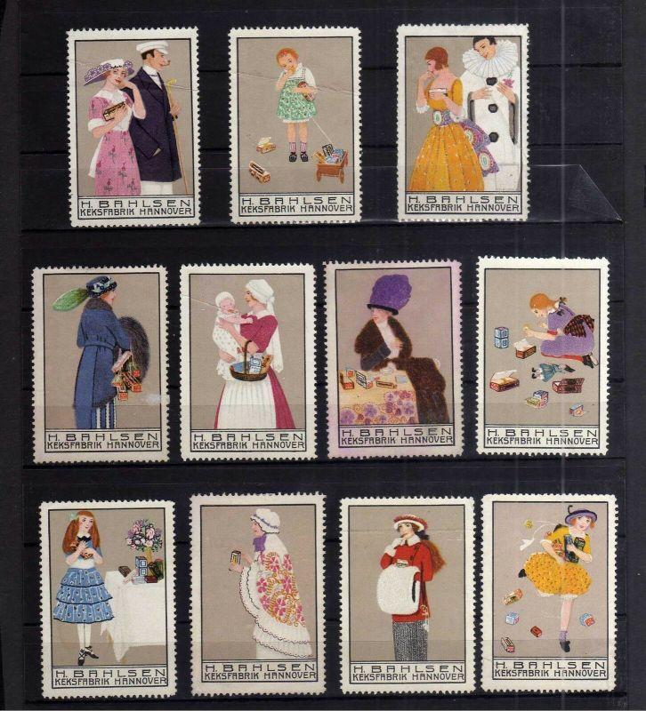 S166 11 Reklame Marken H. Bahlsen Keksfabrik Hannover um 1910