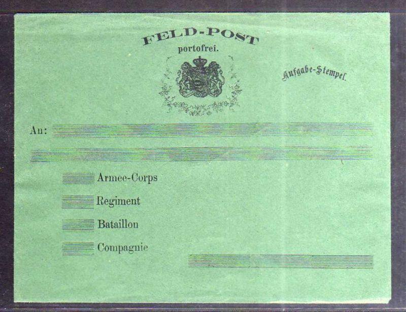 S131 Sachsen Feld-Post Brief portofrei ungebraucht