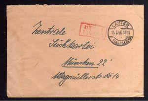 B2024 Brief SBZ Gebühr bezahlt 1946 Lauter Sachsen Erzgeb. Bayr. Rotes Kreuz Mün