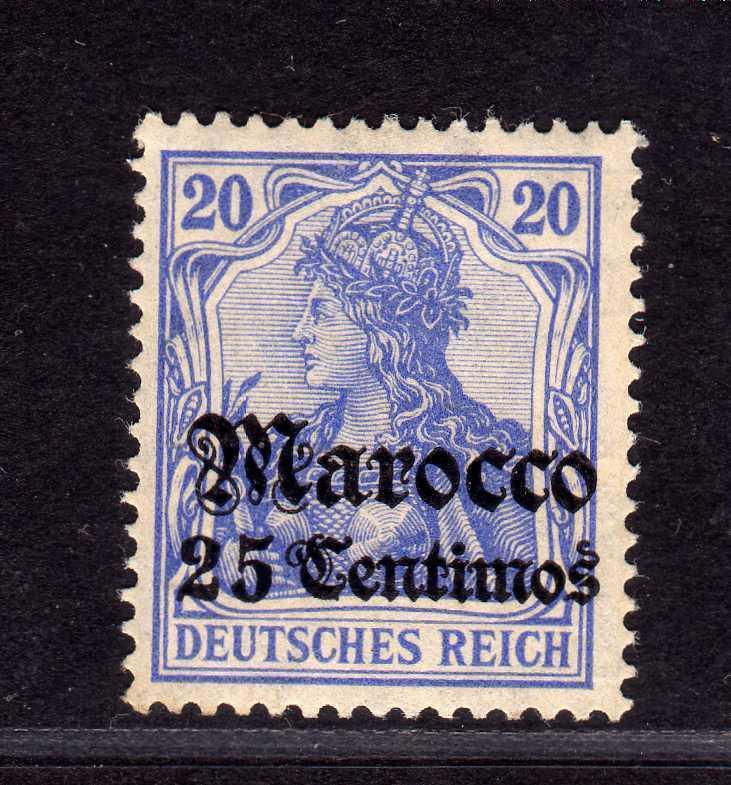 B2203 Deutsche Post in Marokko 37c ** postfrisch gepr. Steuer BPP Mi 180.--