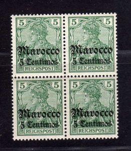 B2193 Deutsche Post in Marokko 4x 20 ** postfrisch Viererblock Eintagsfliege