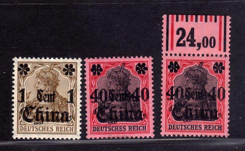 B2167 Deutsche Post in China  38 2x 43 ** postfrisch gepr. BPP Germania Deutsche