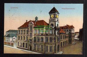 Ansichtskarte Chemnitz 1927 Hauptfeuerwache Feuerwehr
