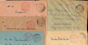 B2120 5x Brief SBZ Gebühr bezahlt 1946 Nöbdenitz Schmölln Einschreiben Bayr