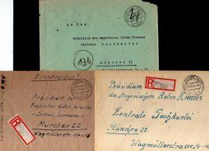B2108 7x Brief SBZ Gebühr bezahlt 1946 Mühlhausen Thür. Zensur Kriegsgefangenens