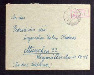 B2083 Brief SBZ Gebühr bezahlt 1946 Schweinbach Post Leutenberg Kr. Saalfeld Thü