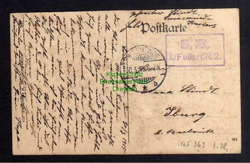 Ansichtskarte Swinemünde 1915 Kaserne des 34. Inf. Reg. Königin Viktoria v. Schweden 1