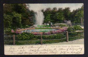 Ansichtskarte Stolp i. Pom. Anlagen am Blücherplatz um 1905