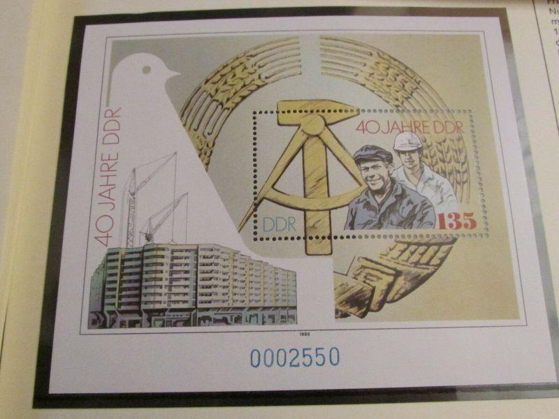 DDR 1989 Exklusiv Jahressammlung mit Eckrand Viererblocks nur 850 Stück mit komp 4