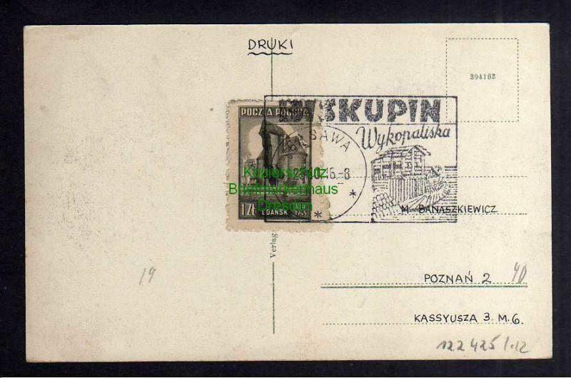 Ansichtskarte Danzig Große Allee um 1920  BISKUPIN Warszawa 1946 1