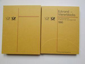 DDR 1990 Exklusiv Jahressammlung mit Eckrand Viererblocks nur 1250 Stück mit kom