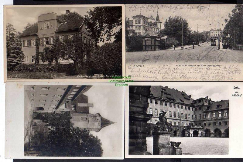4 Ansichtskarte Gotha beim Bahnhof mit Hotel Herzog Ernst 1903 Siebleben Gustav Frey 0