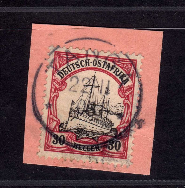 B1748 DOA  Briefstück Tanga 35 PKA Postanweisungsabschnitt
