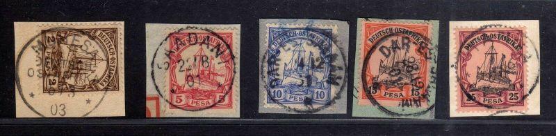 B1745 DOA 5x Briefstück Muhesa Saadani Dar-Es-Salaam Tanga 11 13 14 15 17