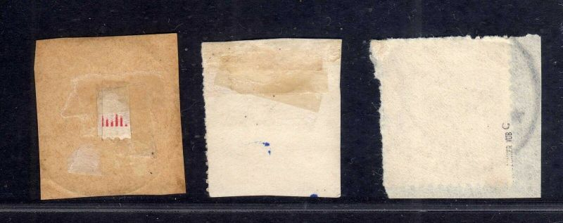 B1742 DOA 3x 3 gestempelt Briefstück Bagamoyo Bukoba  Tanga 1
