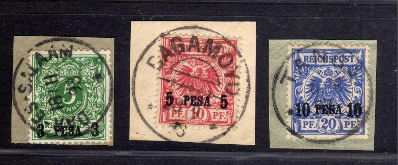 B1741 DOA 2 3 4 gestempelt Briefstück Bagamoyo DAR-ES-SALAAM Taga