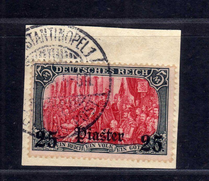 B1739 DP in der Türkei Briefstück 35 Constantinopel gestempelt Luxus gepr. Bothe