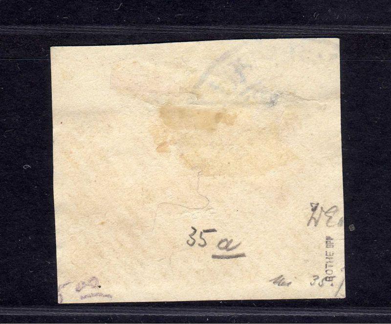 B1739 DP in der Türkei Briefstück 35 Constantinopel gestempelt Luxus gepr. Bothe 1
