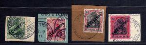 B1735 DP in der Türkei 7x Briefstück 24 - 28 34 38 Constantinopel Beirut Jaffa