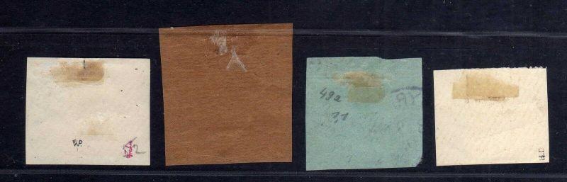 B1734 DP in der Türkei 4x Briefstück 48 49 51 52 Constantinopel Smyrna 1