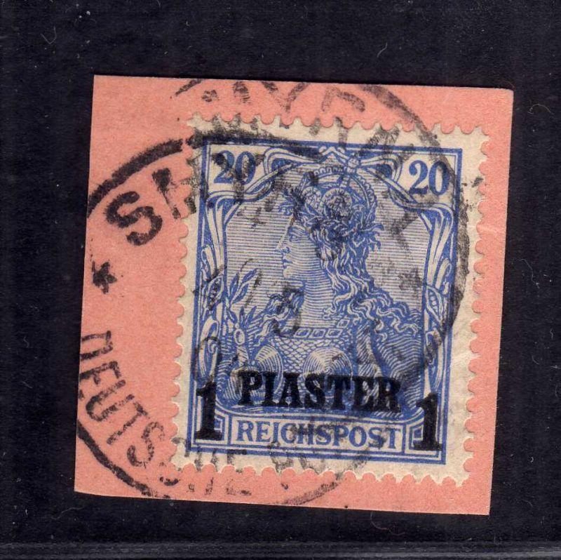 B1733 DP in der Türkei Briefstück 14 II Postanweisungsabschnitt Smyrna