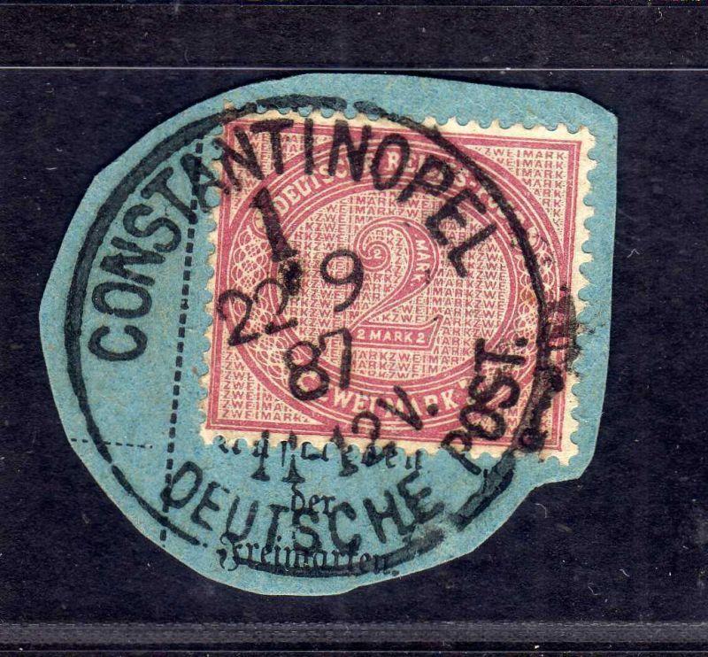 B1727 DP in der Türkei Postanweisungsabschnitt V 37c  Constantinopel 1 gepr. Bot