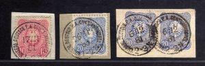 B1726 DP in der Türkei 3x Briefstück mit 3x V42, V41 1x KDP Constantinopel mit K
