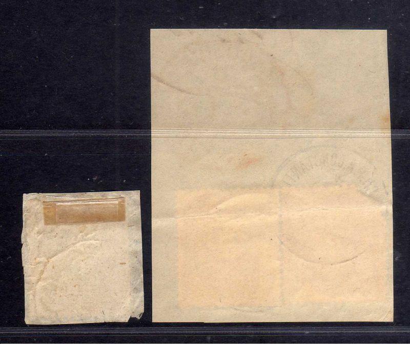 B1725 DP in der Türkei 2x Briefstück mit 3x V34a 1x Ankunftsstempel London EC PA 1