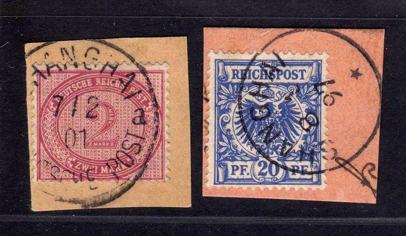 B1723 DP in China 2 Briefstücke Shanghai V37e V48d Postanweisungsabschnitt 0