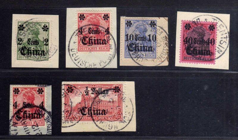 B1721 DP in China Vorläufer 26 Briefstücke Shanghai Tientsin mit 36 B