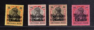 B2201 Deutsche Post in Marokko 38 40 41 42 * Mi. 244.-