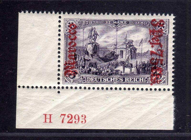 B2198 Deutsche Post in Marokko 32 B ** postfrisch Bogenecke Aufdruck HAN H 7293