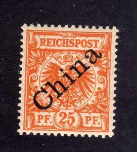 B2157 Deutsche Post in China 5 Ib ** postfrisch 25 Pfennig diagonaler Aufdruck