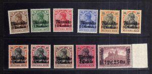 B2210 Deutsche Post in Marokko 46 - 55 II Bb ** postfrisch mit 51 y gepr. BPP Mi