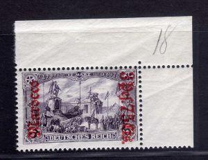 B2192 Deutsche Post in Marokko 32 B ** postfrisch Bogenecke Mi. 140.--