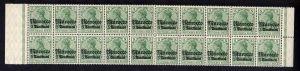 B2199 Deutsche Post in Marokko 20x 35 ** postfrisch Bogenteil Mi. 360.-