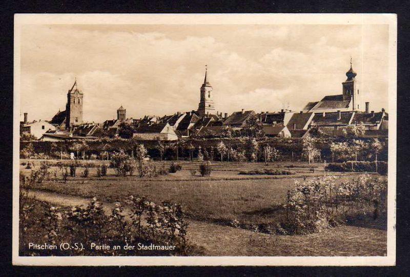 Ansichtskarte Oberschlesien Pitschen 1942 Byczyna 0