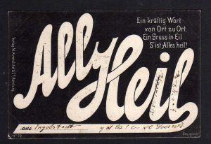 Ansichtskarte Fahrrad All Heil aus Ingolstadt 1898