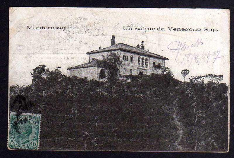 Ansichtskarte Monterosso Un saluto da Venegono Sup 1907 0