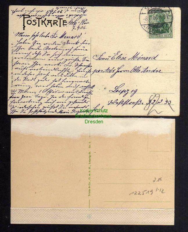 2 Ansichtskarte Stolp i. Pom. 1906 Teich in den Langen Bergen Goldfischteich 1