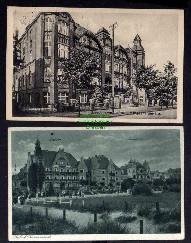 2 Ansichtskarte Swinemünde Ostsee Kurheim 1928 Ostseehotel 0