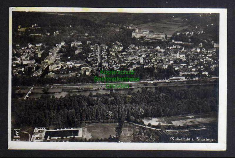 Ansichtskarte Rudolstadt Thüringen Luftbild 1941 Fotokarte 0
