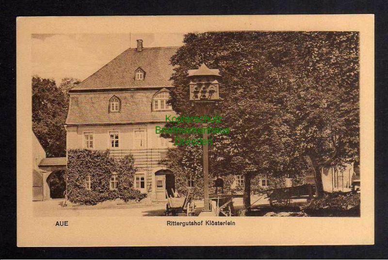 Ansichtskarte Aue um 1930 Rittergutshof Klösterlein 0