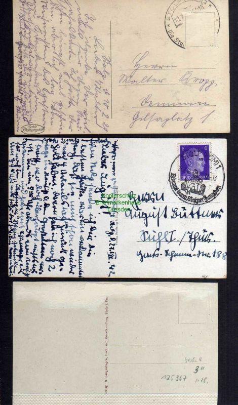 3 Ansichtskarte Stolp i. Pom. 1929 Gymnasium Kreishaus 1929 Oberschule 1942 1