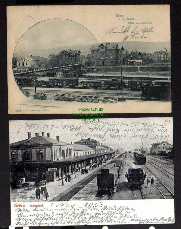 2 Ansichtskarte Bebra Bahnhof Gleisanlage 1902 Gleisseite 1903 0