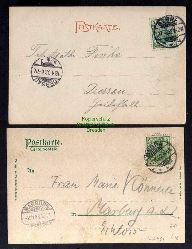 2 Ansichtskarte Bebra Bahnhof Gleisanlage 1902 Gleisseite 1903 1