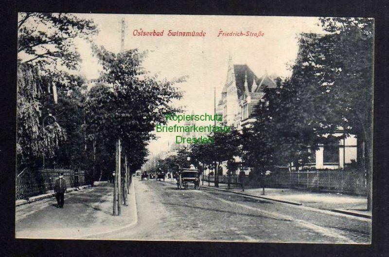 Ansichtskarte Swinemünde Friedrich Straße um 1910 0