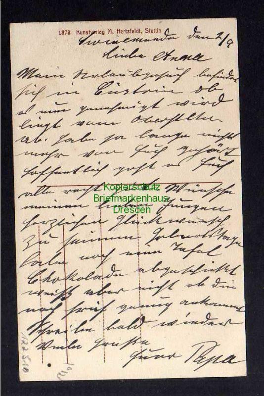 Ansichtskarte Swinemünde Friedrich Straße um 1910 1