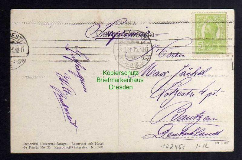 Ansichtskarte Bukarest Bucuresti 1911 Calea Victoriei spre Hotel Frascati 1